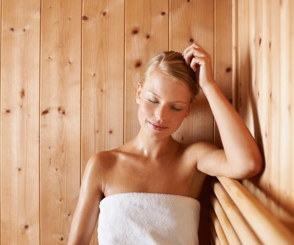 Женщина в бане